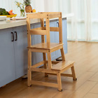 Kitchen Helper Step Stool for Kids and Toddlers with Safety Rail Children Tower