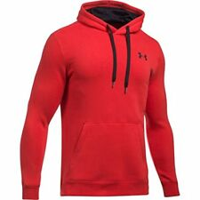Under Armour Rival Fitted Pull Over Felpa Uomo Rosso Medium