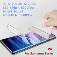 For SAMSUNG Galaxy S20 S10 8 9 Plus 5G NOTE20 TPU Hydrogel FILM Screen Protector