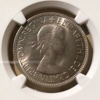 1953 GREAT BRITAIN 1/2 CROWN NGC MS 63