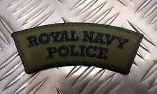 Genuine British Royal Navy Police RNP OD Shoulder Patch / Badge - Brand NEW