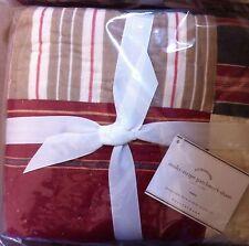 New Pottery Barn Multi Stripe Patchwork 1 Euro Pillow Quilt Sham (1 Sham)