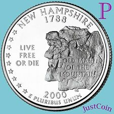 2000 P NEW HAMPSHIRE (NH) STATE QUARTER UNCIRCULATED FROM MINT ROLL