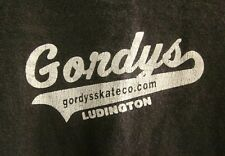 GORDY'S SKATE COMPANY med T shirt Ludington skateboarding Michigan beat-up tee
