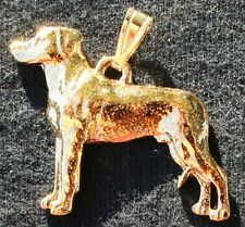 Rhodesian Ridgeback Dog 24K Gold Plated Pewter Pendant Jewelry Usa Made