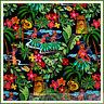BonEful Fabric FQ Cotton Quilt Bk Rainbow Sexy Pin Up Hawaii*an Luau Flower Girl