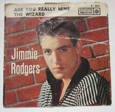 JIMMIE RODGERS WIZARD ARE YOU REALLY MINE 45 RPM PICTURE SLEEVE ROULETTE R-4090