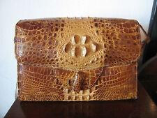 Vintage Alligator Skin Las Shoulder Bag Purse