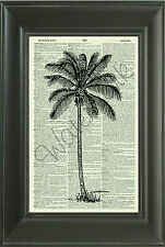 ORIGINAL - Palm Tree Vintage Dictionary Page Art Print-Home Decor 202D Wall Art