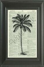 ORIGINAL - Palm Tree Vintage Dictionary Page Art Print-Home Decor 202D Wall Art