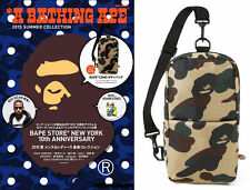 A Bathing Ape Camo Crossbody Bag Bape Messenger Purse Pack Sling Shoulder Bag #