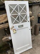 RECLAIMED - HEAVY ANTIQUE PINE - GLASS - COTTAGE FRONT DOOR  1920s, 1940s, 1950s