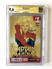 Captain Marvel 1 CGC 9.6 signed by Stan Lee, Kelly Sue DeConnick & Lopez Endgame