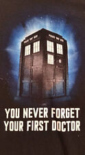 Dr. Who - You Never Forget Your First Dr. - XL Black Short Sleeve T-shirt