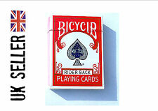 Red back STRIPPER DECK tapered cards poker size close up magic trick