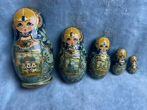 Nesting Doll 5 piece signed 6""