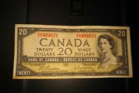 1954 $20 Dollar Bank of Canada Banknote ZE0494621