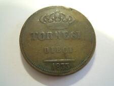 MONETA DEL 1833 - TORNESI DIECI - FERDINANDO II - NAPOLI DUE SICILIE  (GIO-10)