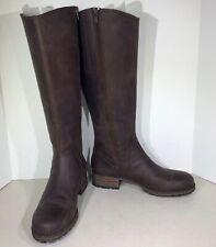 Clarks Marana Trudy Women's Size 8.5 Dark Brown Leather Knee High Boots X1-815