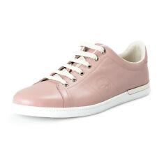 Gucci Women's Purplish Pink Leather Fashion Sneakers Shoes Sz 11 IT 41
