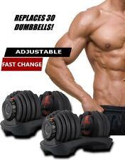 Adjustable Dumbbells 5-52.5 LBS Each Pair(100Lbs)- like Bowflex