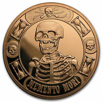 1 oz Copper Round - Momento Mori