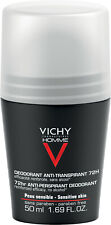VICHY HOMME  ROLL-ON DEODORANT Antiperspirant 50ML. For Sensitive Skin, 48HR