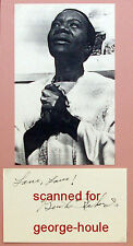 BEAH RICHARDS -AUTOGRAPH - GUESS  WHOSE COMING TO DINNER-TRACY-HEPBURN - AA NOM