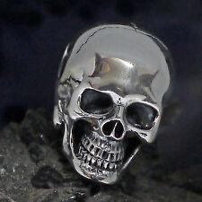 dr. skull groß Ketten Anhänger 925 Silber Schädel Totenkopf Biker Gothic Celtic