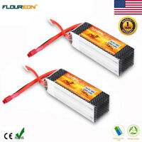 2x4S1P 14.8V 2200mAh 45C Lipo Battery Deans for RC Helicopter Airplane Car Drone
