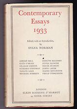 Graham Greene, Adrian Bell - Contemporary Essays 1933, Scarce Original DW