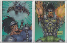 1996 Skybox 2 x Prophet collection Wiggle lenticular cards ~ W1 & W3
