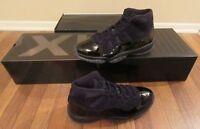 Nike Air Jordan 11 Retro XI Size 11 Black Black Black 378037 005 Cap and Gown DS