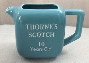 "Thorne's Scotch sky blue ceramic pitcher 5.5""H pub jug"