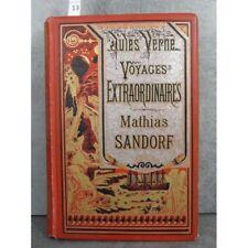 Hetzel Jules Verne voyages exraordinaires mathias sandorf cartonnage bannière ar