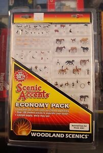 "N Woodland Scenics ""Scenic Accents"" Economy Pack 2061 * Assorted Farm Set * NIB"