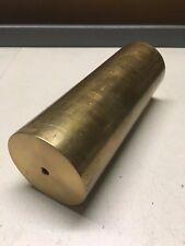 3 1/2 inch diameter x 9 5/8 inch length 360 brass bar