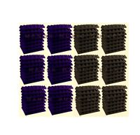 "96 pc Acoustic Foam Pyramid PURPLE and GREY 12x12x2"" Studio Soundproofing tile"