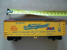 Rare Wagon de train BIERE MARRAGANSETT ALE USA RHODE ISLAND en PVC