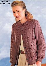 "177 Ladies Cable Cardigan DK Knitting Pattern ONLY 30-40"" 76-102cm Vintage"
