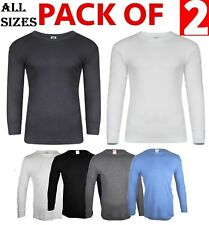 2x Mens Thermal Underwear Long Sleeve Shirt Top Ski Warm Winter Vest ALL SIZES