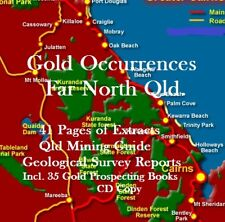 GOLD MINING & PROSPECTING REPORTS FAR NORTH QLD + 35 Bonus Books & Maps