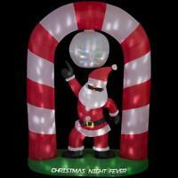 CHRISTMAS SANTA ANIMATED DISCO SCENE  AIRBLOWN INFLATABLE YARD DECOR 8 FT