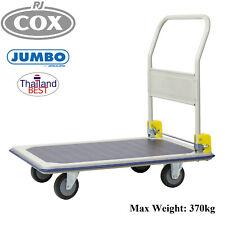 Jumbo 370kg Flat Bed Medium Platform Trolley Folding handle Heavy Duty Truck