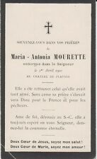 1900 Memento Maria-Antonia MOURETTE née MONIER Playnes Billy-Chevannes Nièvre
