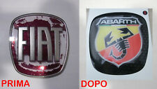 STICKER 3D BACK REAR emblem badge PVC 3M LOGO FIAT BRAVO ABARTH BUTTON NEW ITALY