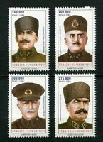 31171) Turkey 2000 MNH Military Leaders 4v. Scott #2770/73