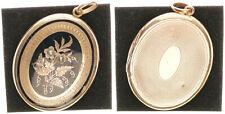 Brosche, Goldblech 585, 9,66g