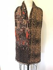 """CHANEL MOSCOW 2009 RARE COLLECTIBLE PARIS-MOSCOU WOOL BLEND LARGE SCARF 72"""" X 9"""""""