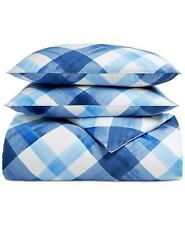 Charter Club Damask Designs Painted Plaid 3 Pc Full / Queen Duvet Cover Set $170